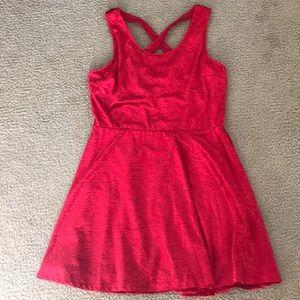 Candie's size XL Red Damask Print Velvet Dress